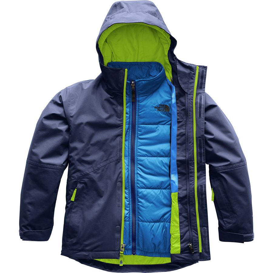 7e33dae9208 The North Face - Boundary Hooded Triclimate Jacket - Boys  - Cosmic Blue  Lime