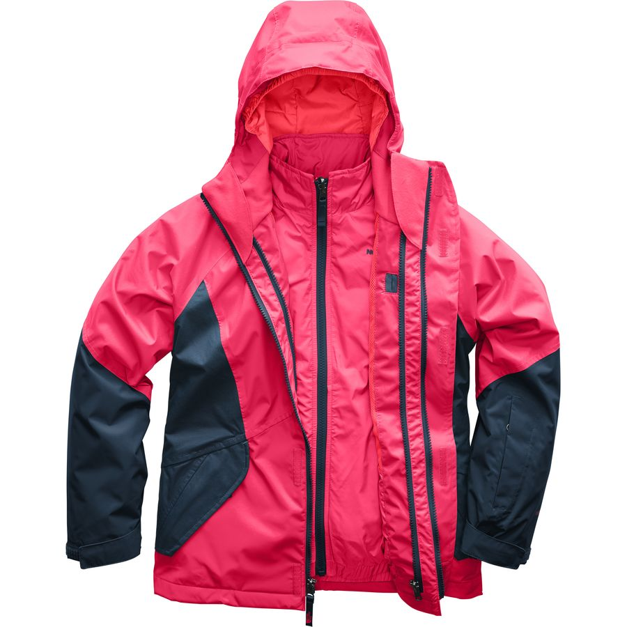 7c367fe3a72c ... Black Tnf. The North Face - Kira Hooded Triclimate Jacket - Girls  -  Atomic Pink