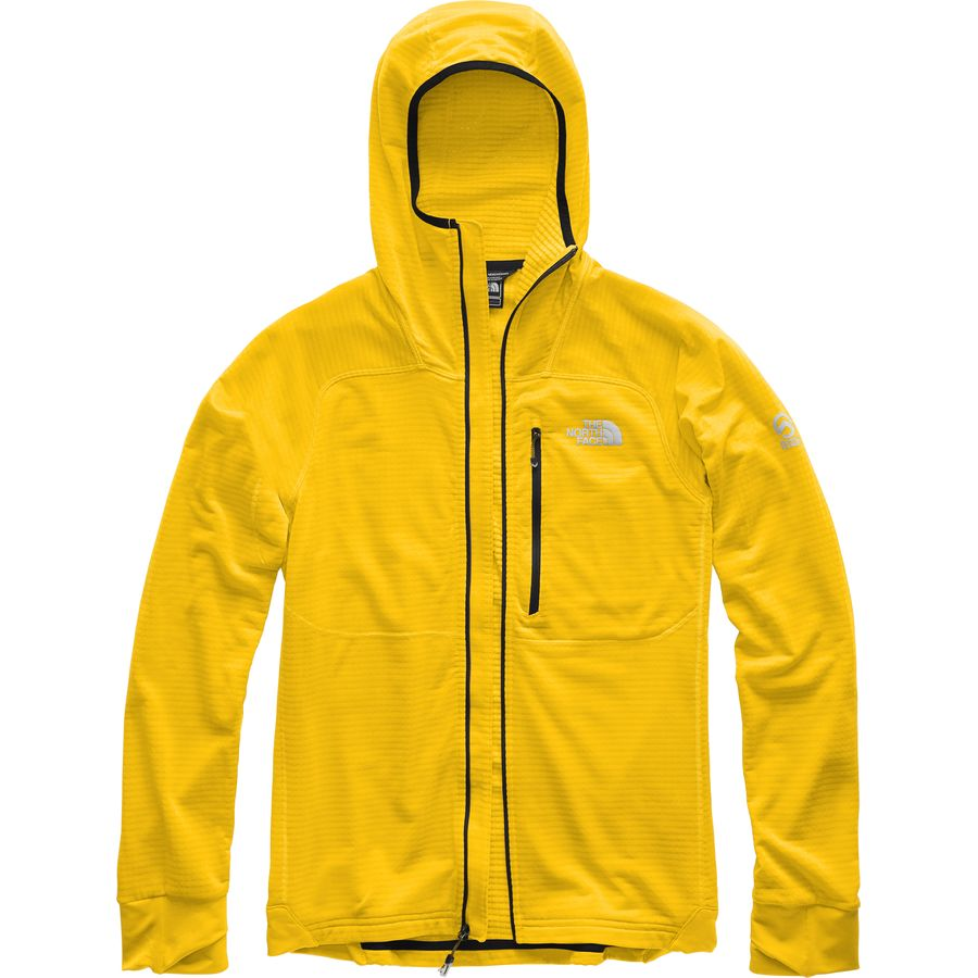 129b74de4476 The North Face - Summit L2 Proprius Grid Fleece Hooded Jacket - Men s -  Canary Yellow