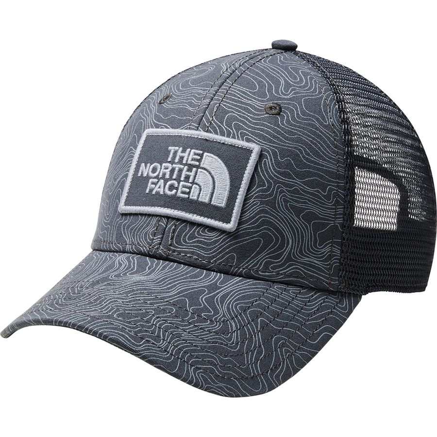 The North Face - Printed Mudder Trucker Hat - Asphalt Grey Linear Topo Print f0434c198d6
