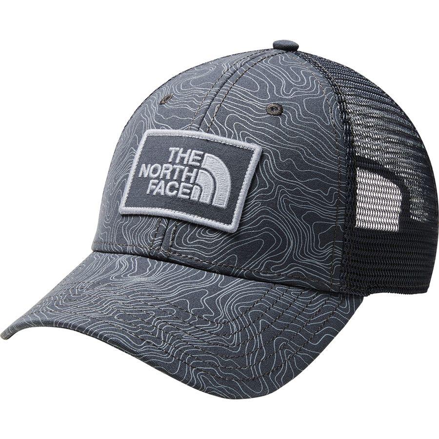 The North Face - Printed Mudder Trucker Hat - Asphalt Grey Linear Topo Print 66dbe8539ae6