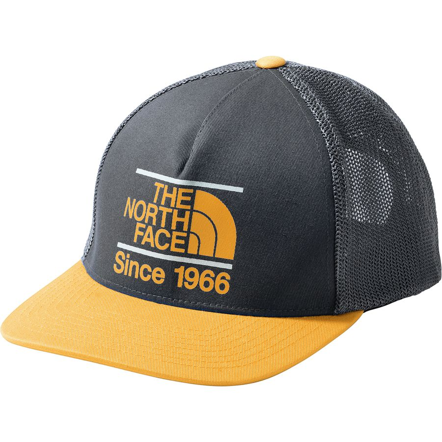 723856275e4 The North Face - Keep It Structured Trucker Hat - Asphalt Grey Citrine  Yellow