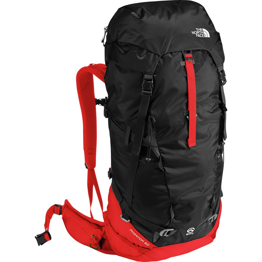 563b735387f The North Face - Phantom 50L Backpack - Fiery Red/Tnf Black