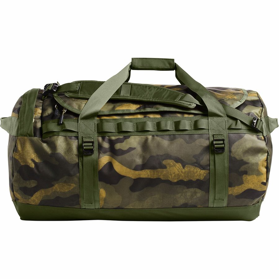 91319e7eb2 The North Face - Base Camp 95L Duffel - Burnt Olive Green Waxed Camo Print/