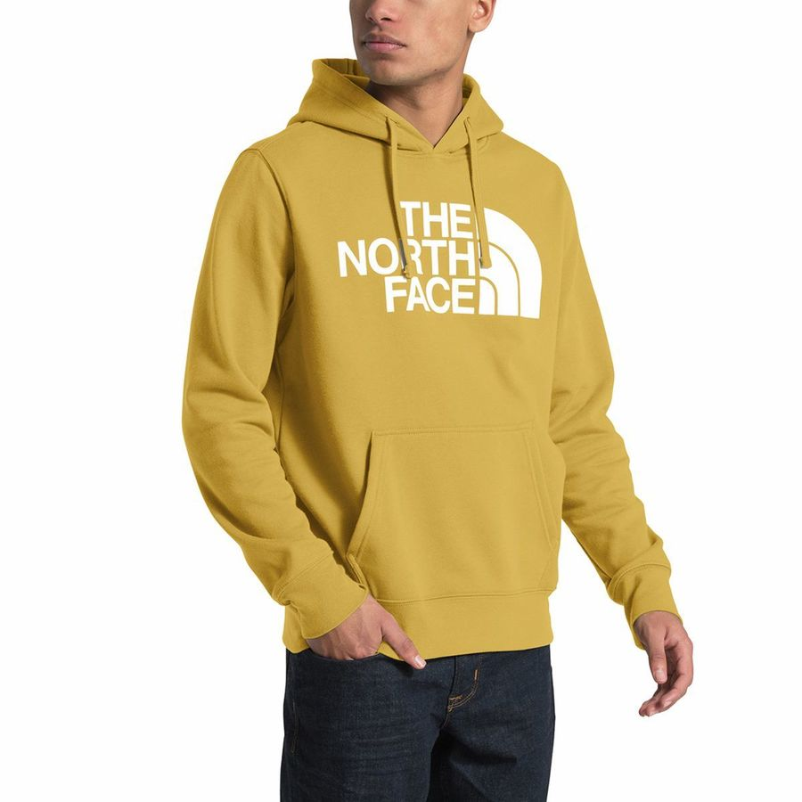 dadbd7445eca2 The North Face - Half Dome Pullover Hoodie - Men's - Golden Spice/Tnf White