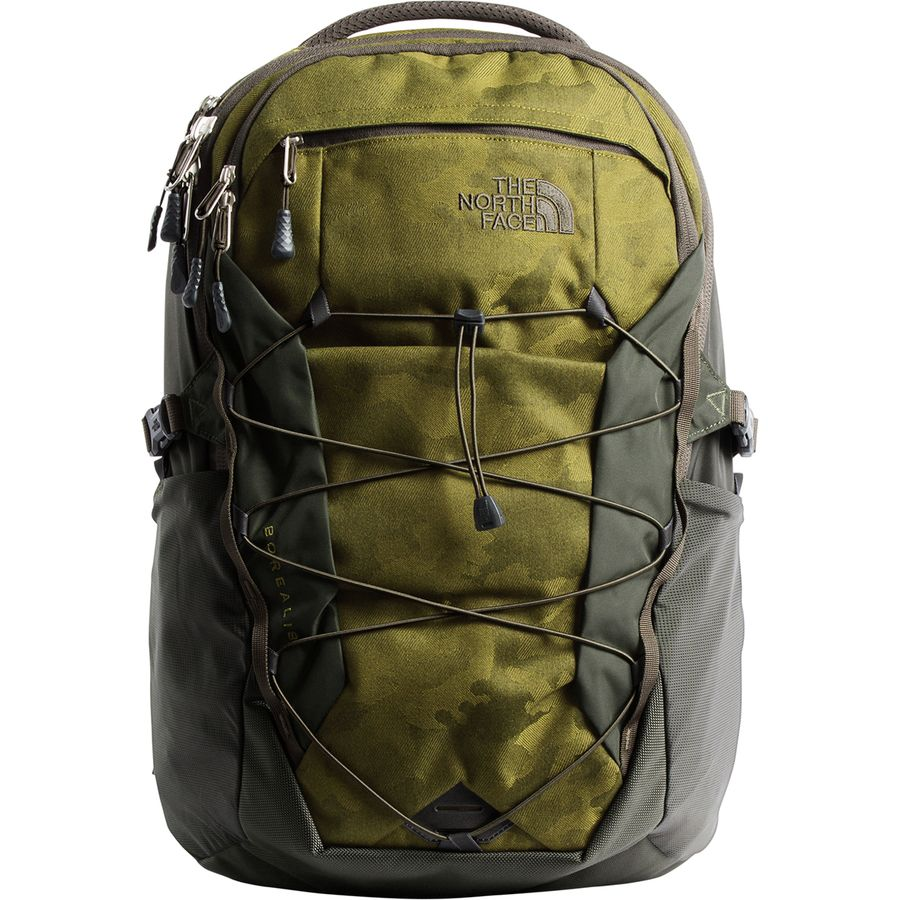 The North Face - Borealis 28L Backpack - Fir Green Camo Print/New Taupe Green
