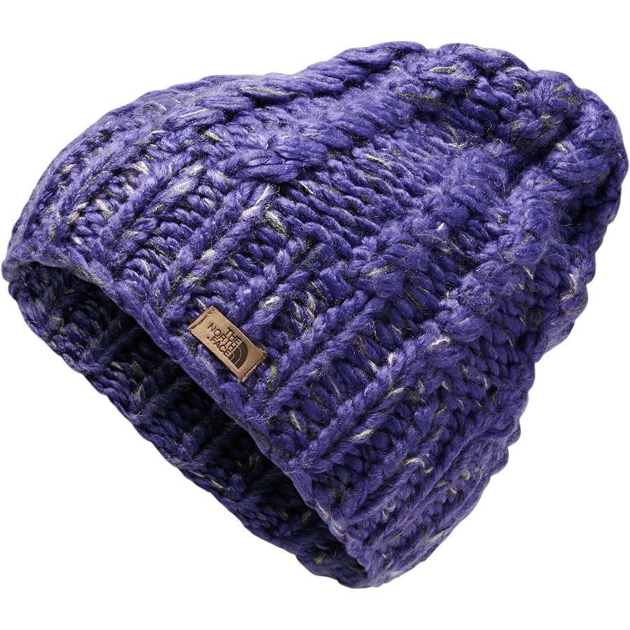 1d3c6b13a2891 The North Face - Chunky Knit Beanie - Women s - Deep Blue Four Leaf Clover