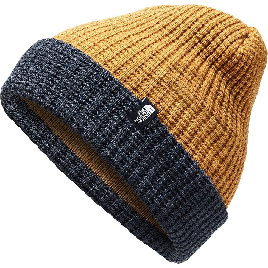 63dfaa4f ... Tnf Black/Deep Blue. The North Face - Waffle Beanie - Kids' - Golden  Brown/Cosmic Blue