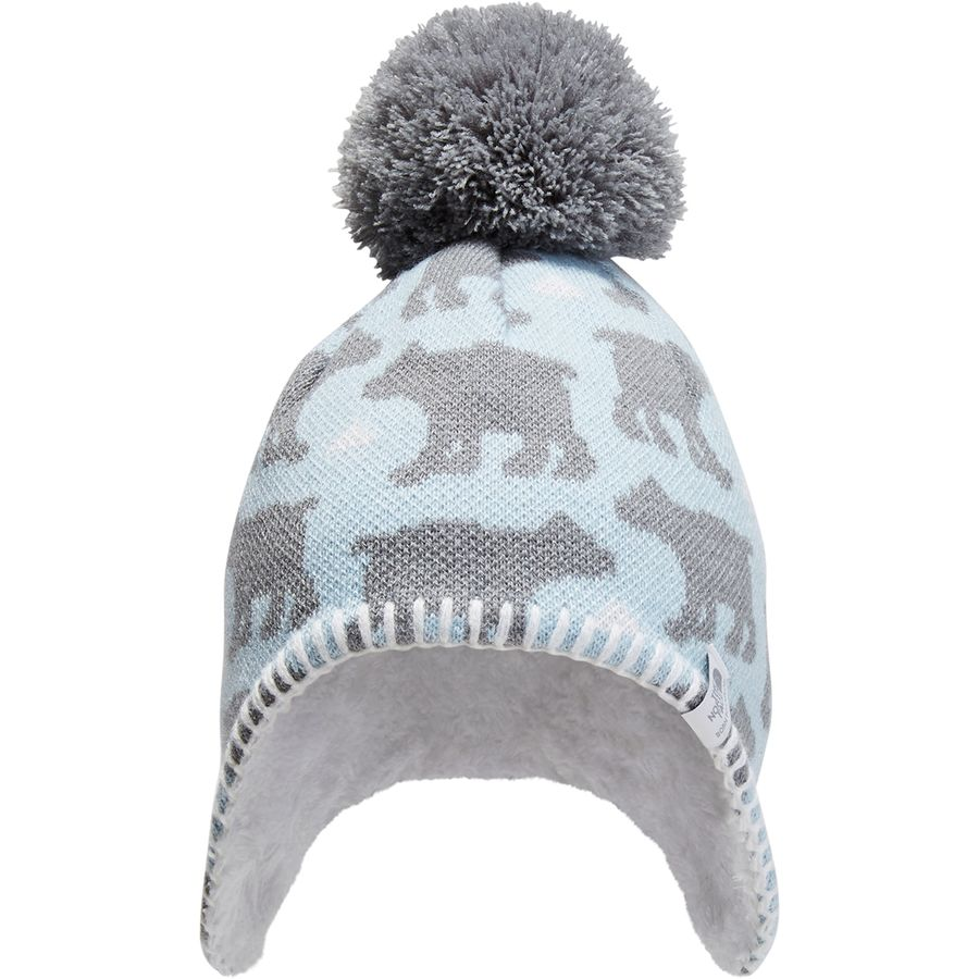 9780032fdc2 The North Face - Faroe Beanie - Toddlers  - Pale Blue Mid Grey Bear