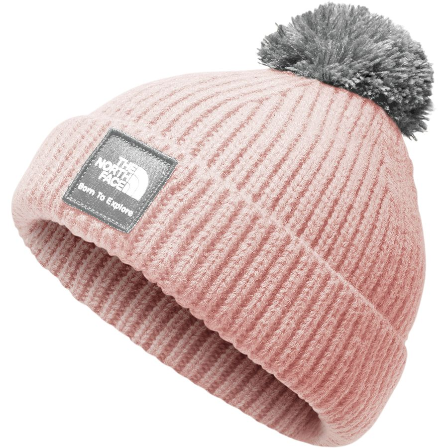 The North Face - Box Logo Pom Beanie - Infants  - Purdy Pink High e8871ecac35