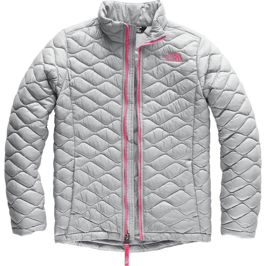 d4b6fc6f3a The North Face - Thermoball Full-Zip Jacket - Girls  - Mid Grey