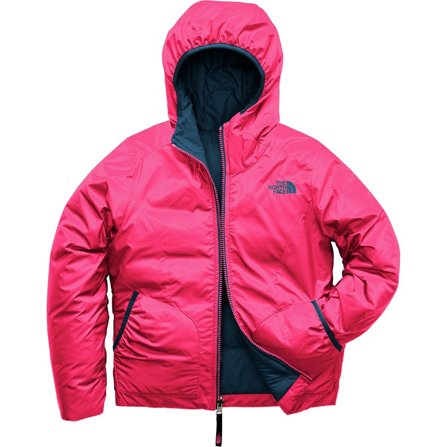 8469dce87834 The North Face - Perrito Reversible Hooded Jacket - Girls  - Atomic Pink
