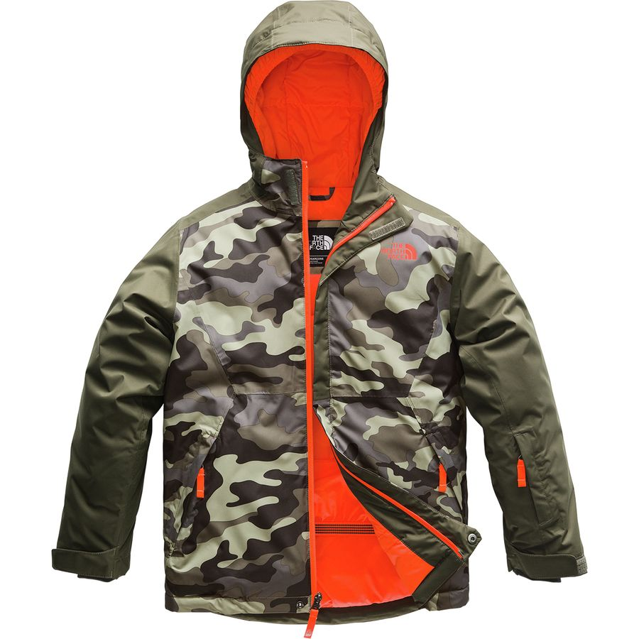 3a92875b17e44 The North Face - Brayden Hooded Insulated Jacket - Boys' - New Taupe Green  Camouflage