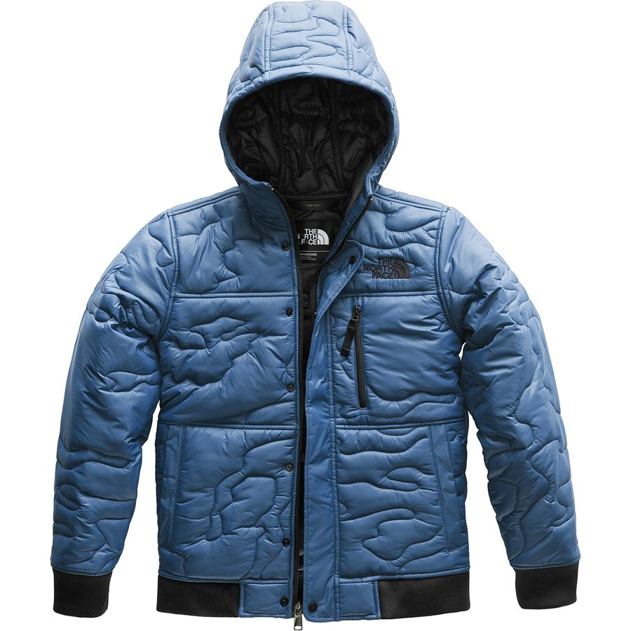 37211ab015 The North Face - Camo Quilt Insulated Hoodie - Boys  - Shady Blue