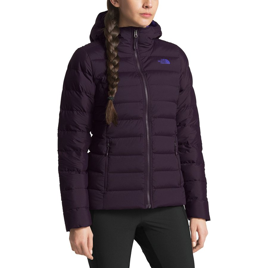 The North Face - Stretch Down Hooded Jacket - Women s - Galaxy Purple a65823c5c