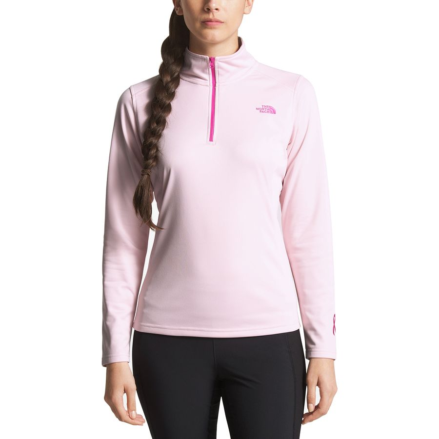 c554c588d The North Face Pink Ribbon Tech Glacier 1/4-Zip Jacket - Women's