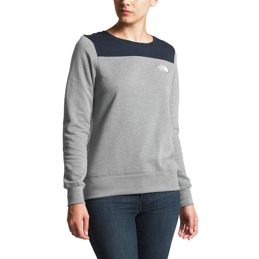 b0d3feb37 The North Face - Half Dome Fleece Crew Pullover Sweatshirt - Women s - Tnf  Medium Grey