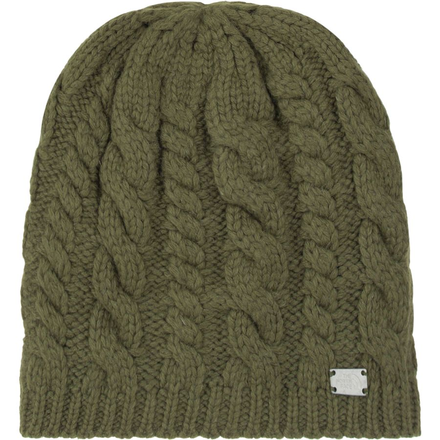 The North Face - Fuzzy Cable Beanie - Women s - Burnt Olive 8aaaa48dd35
