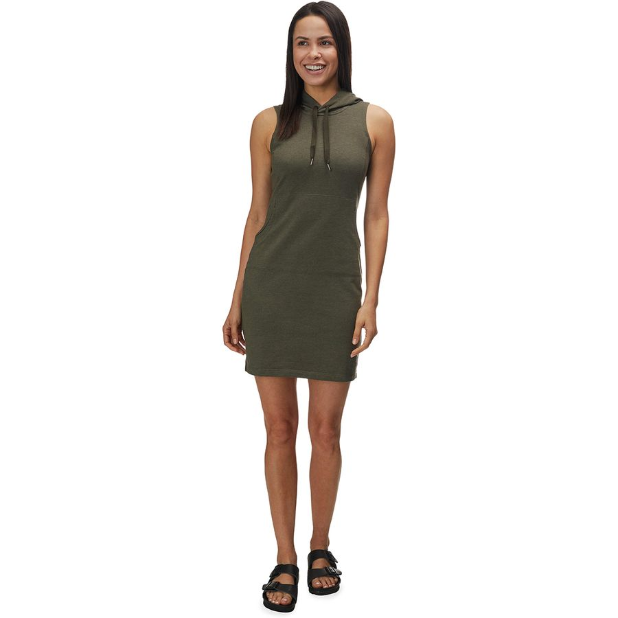 117888136612 The North Face - Bayocean Sleeveless Hooded Dress - Women's - New Taupe  Green Heather