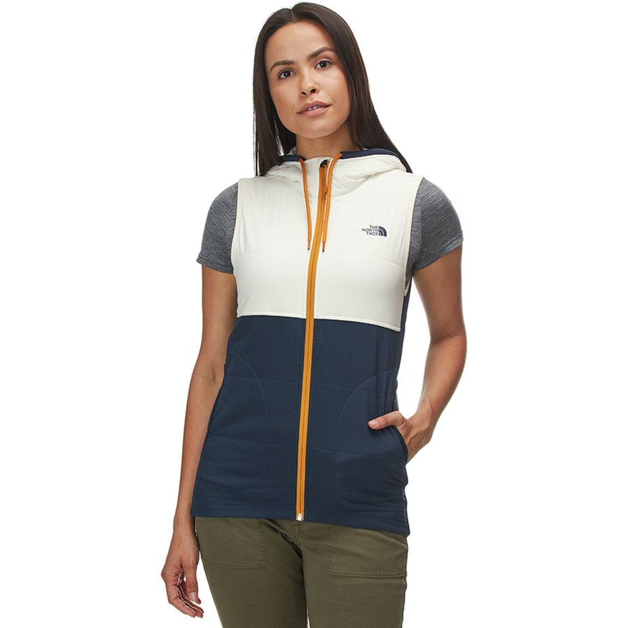 The North Face - Mountain Sweatshirt Hooded Vest - Women's - Urban Navy Multi