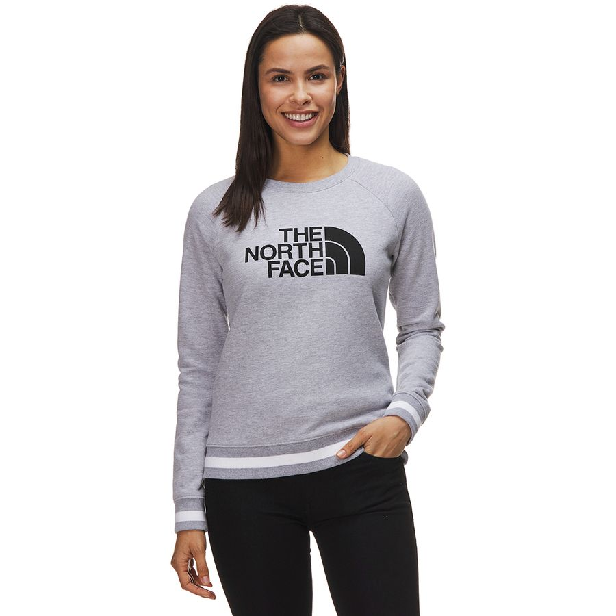 The North Face - High Trail Crew Sweatshirt - Women's - Tnf Light Grey Heather