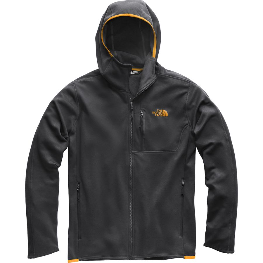 f90e567fad The North Face - Canyonlands Hooded Fleece Jacket - Men s - Asphalt  Grey Zinnia Orange