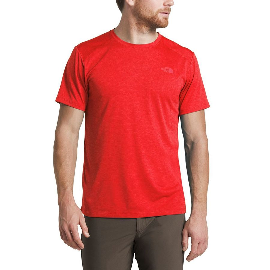 5e60760e4235 The North Face - Hyperlayer FD Short-Sleeve Crew - Men's - Fiery Red Heather