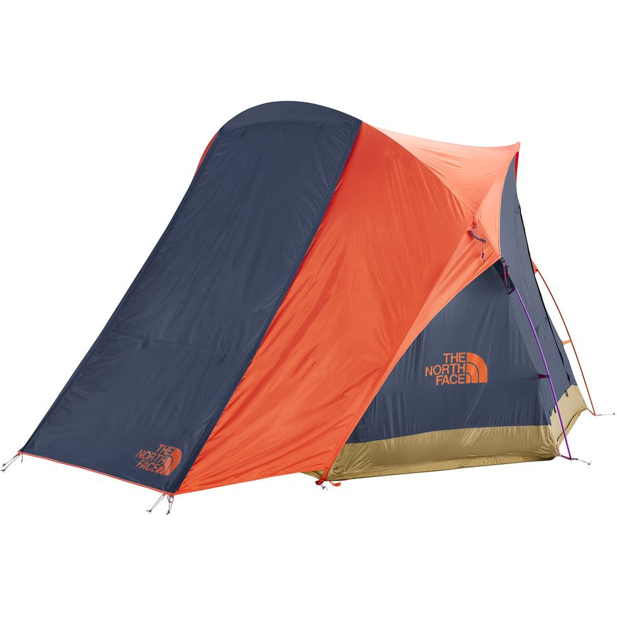 92a283e40bf The North Face - Homestead Super Dome 4 Tent - Storm Blue Papaya Orange