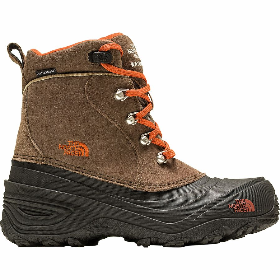 The North Face - Chilkat II Boot - Boys' - Mud Pack Brown/Sienna