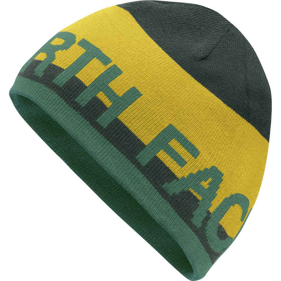 9ecce027fbcf5 The North Face - Reversible TNF Banner Beanie - Arrowwood Yellow Darkest  Spruce Silver