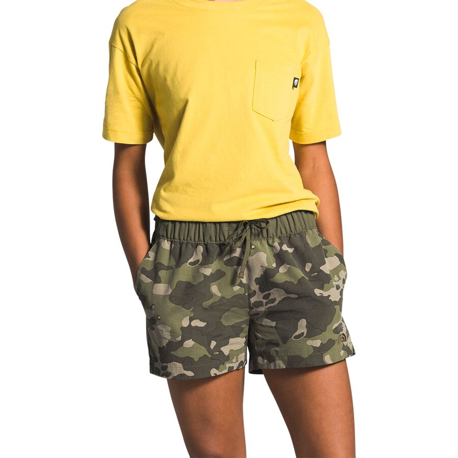 """Womens 4/"""" Inseam The North Face Water Short Flashdry Active Running Shorts Green"""