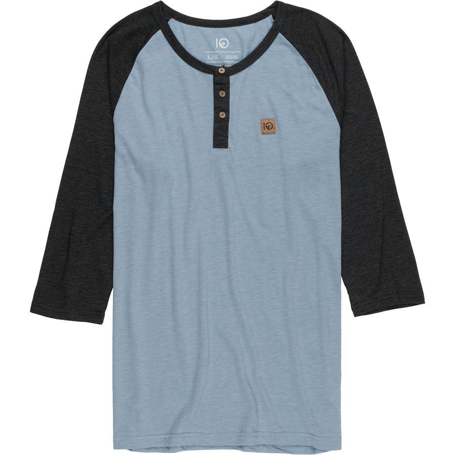 Tentree standard henley 3 4 sleeve shirt men 39 s for 3 4 henley shirt