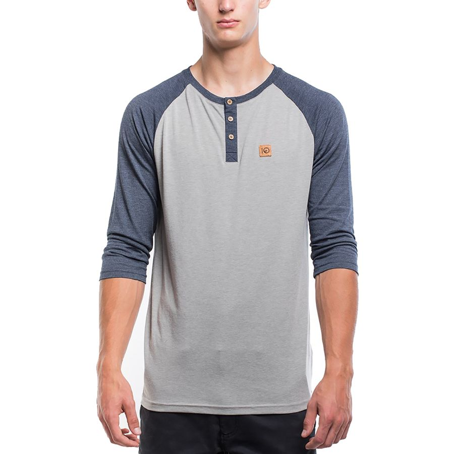 Tentree Standard Henley 3/4-Sleeve Shirt - Mens