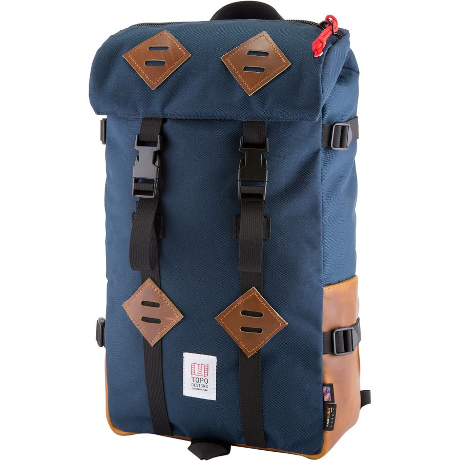 Topo Designs - Klettersack 22L Backpack - Navy Leather c35041ccf2403