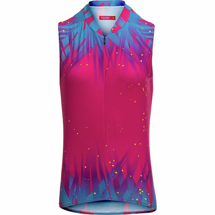 Terry Bicycles - Soleil Sleeveless Jersey - Women s - Crystalline Beetroot 848dcfb58
