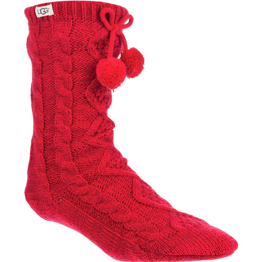 17f91799d5e UGG Pom Pom Fleece Lined Crew Sock - Women's