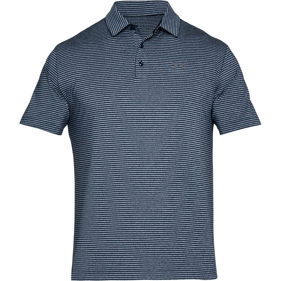 Under Armour - Playoff Polo Shirt - Men's - Academy/Academy/Rhino Gray Light