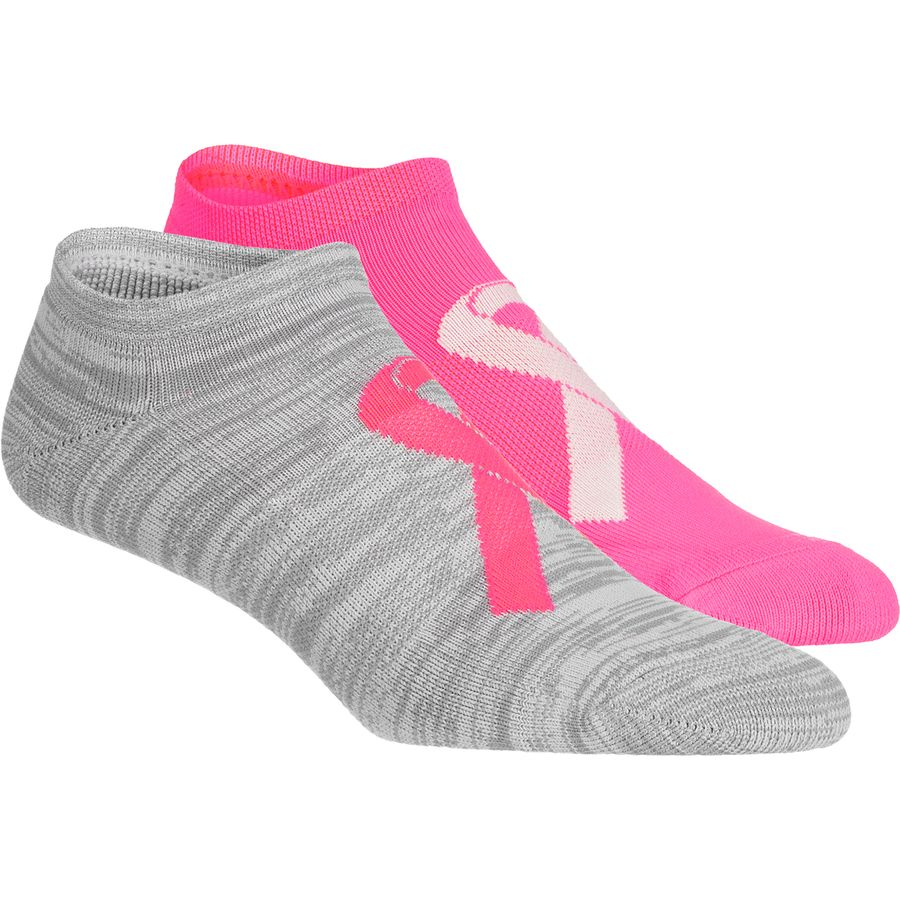 Under Armour Power in Pink 2.0 No Show Sock - 2-Pack - Womens