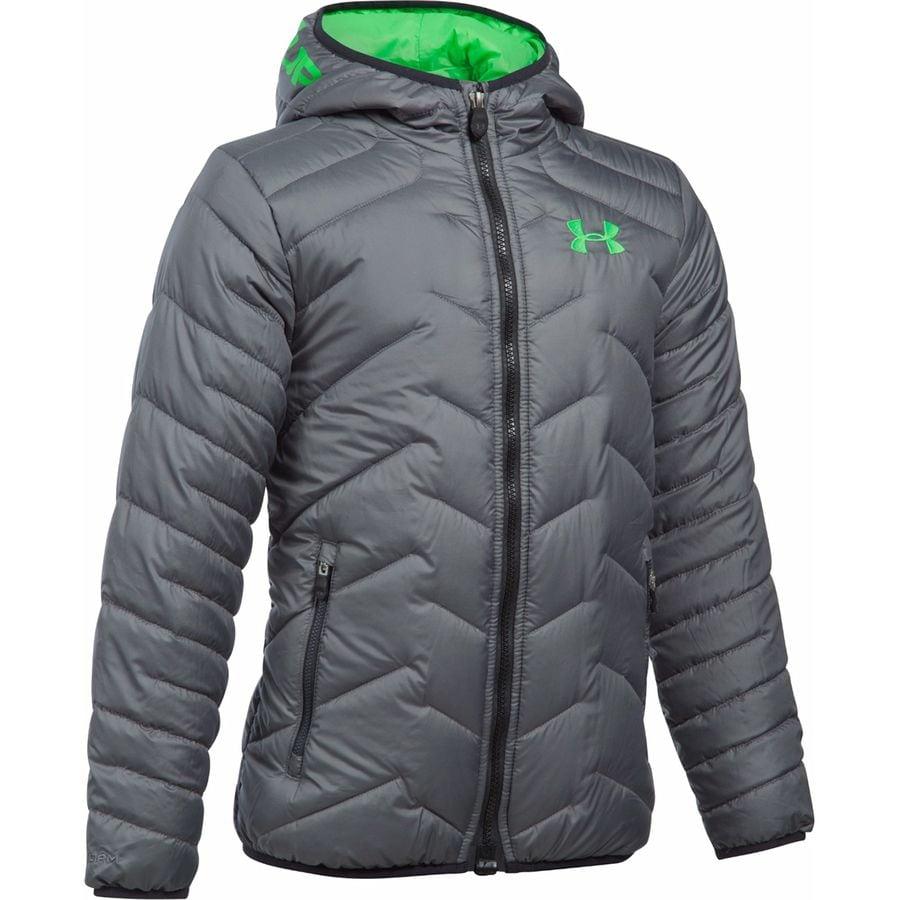 under armour coldgear reactor hooded insulated jacket boys 39. Black Bedroom Furniture Sets. Home Design Ideas