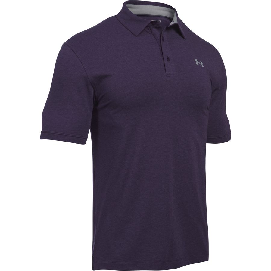 Under armour charged cotton scramble polo shirt men 39 s for Under armour charged shirt