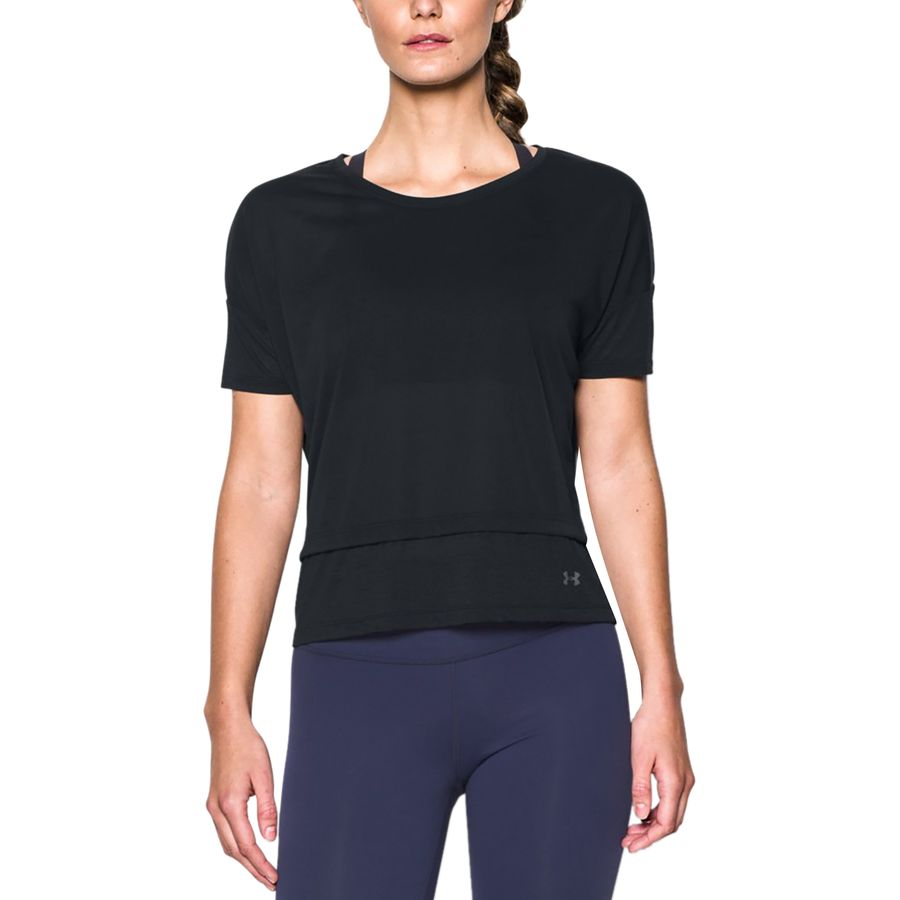 Under Armour Tech Slub Layered Shirt - Short-Sleeve - Womens