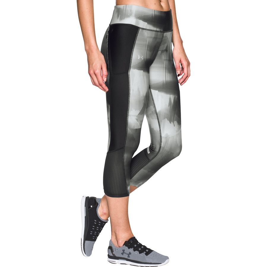 Under Armour Fly By Printed Run Capri - Womens