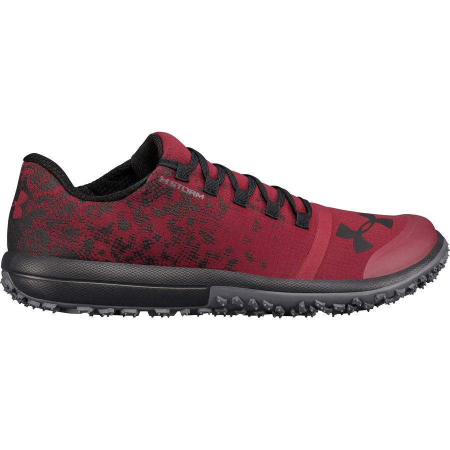 Men's Under Armour Speed Tire Ascent Low Men's Trail Running Shoes Red/Grey