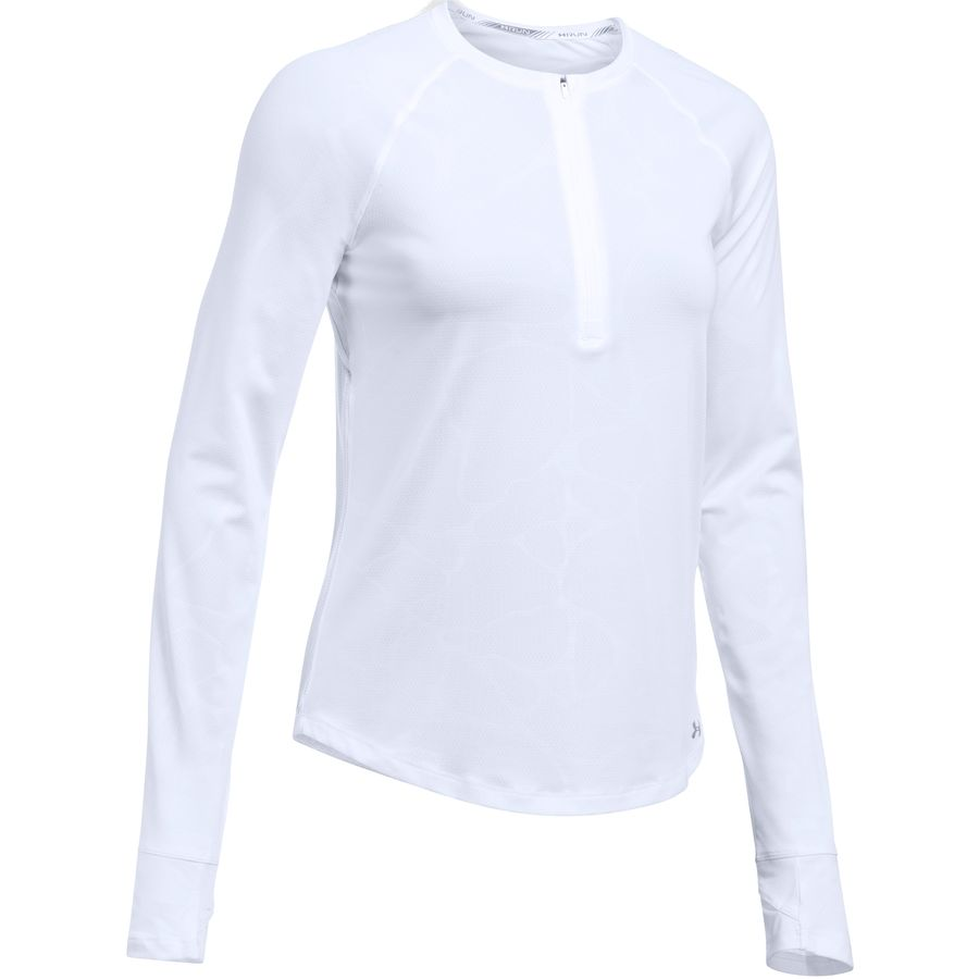 Under Armour Fly By Embossed 1/2-Zip Long-Sleeve Shirt - Womens