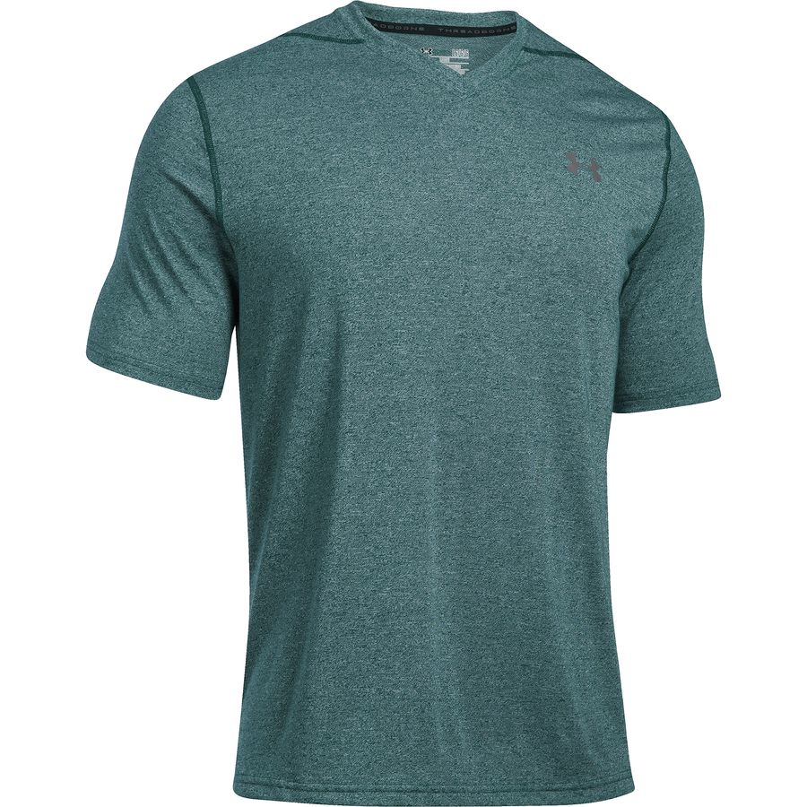 Under Armour Threadborne V Neck Short Sleeve Shirt Mens