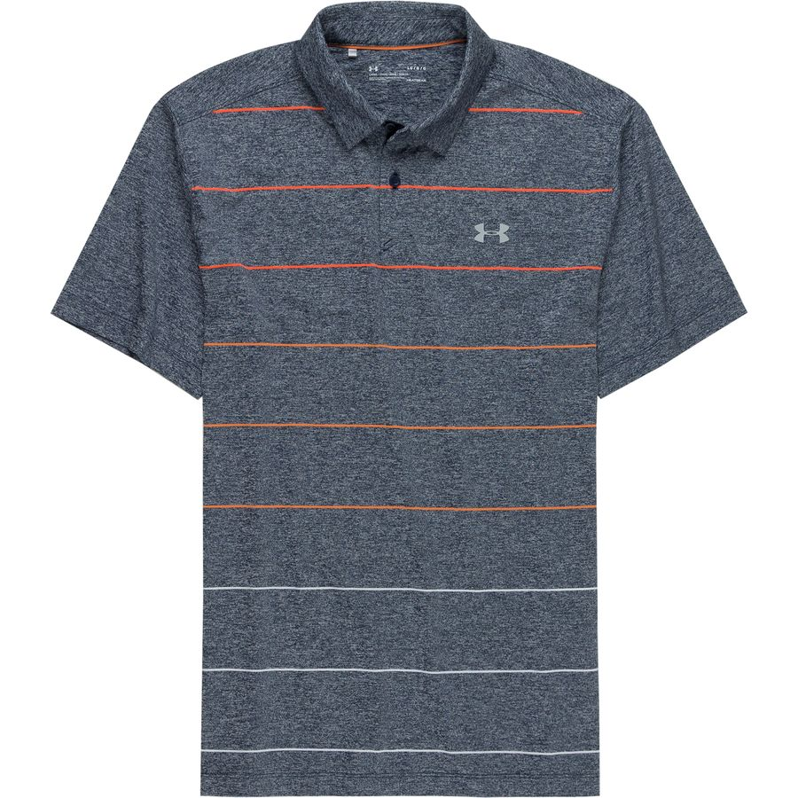 Under Armour Coolswitch Pivot Stripe Polo Shirt - Mens