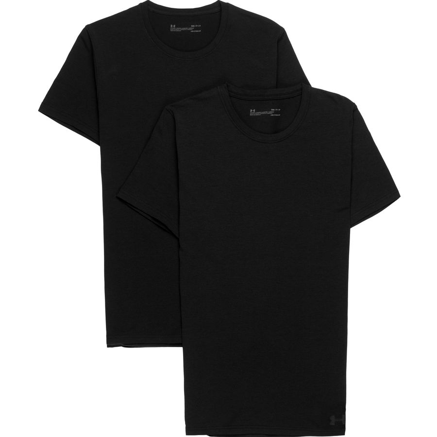 Under Armour Cotton Stretch Short-Sleeve Crew T-Shirt - 2-Pack - Mens