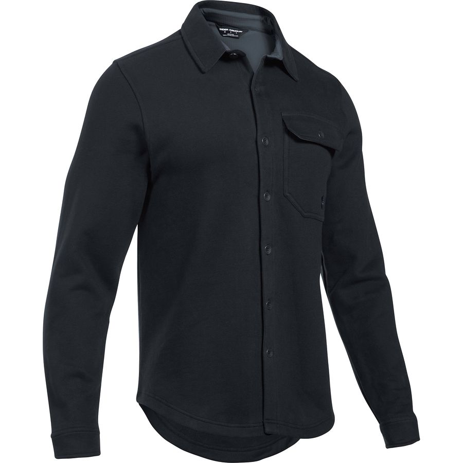 Black long sleeve fleece shirt - Long sleeve fleece shirt 8GXVie