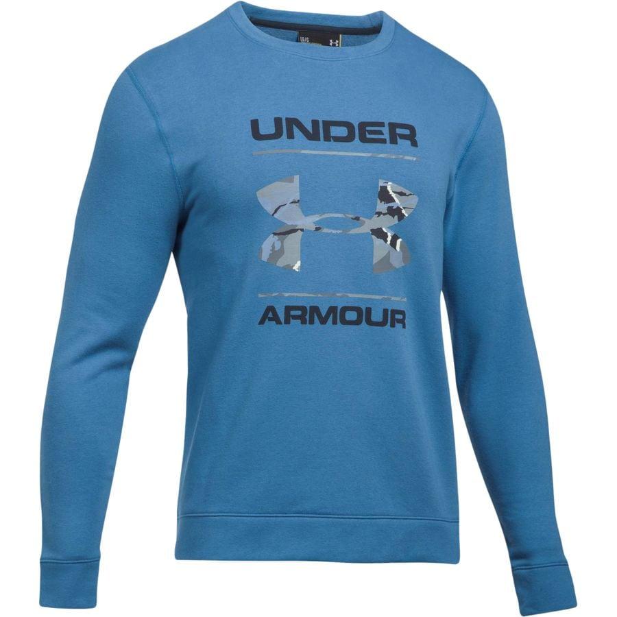 Under Armour Threadborne Camo Fill Crew Sweatshirt - Mens