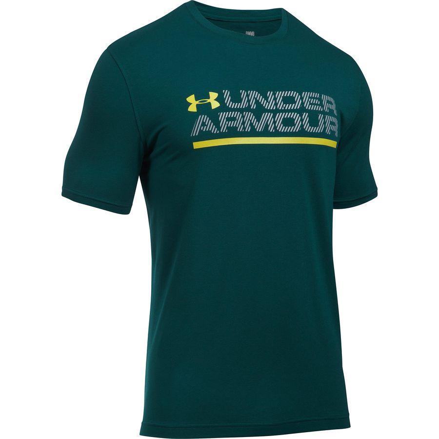 Under Armour Wordmark Lock Up Short-Sleeve T-Shirt - Mens